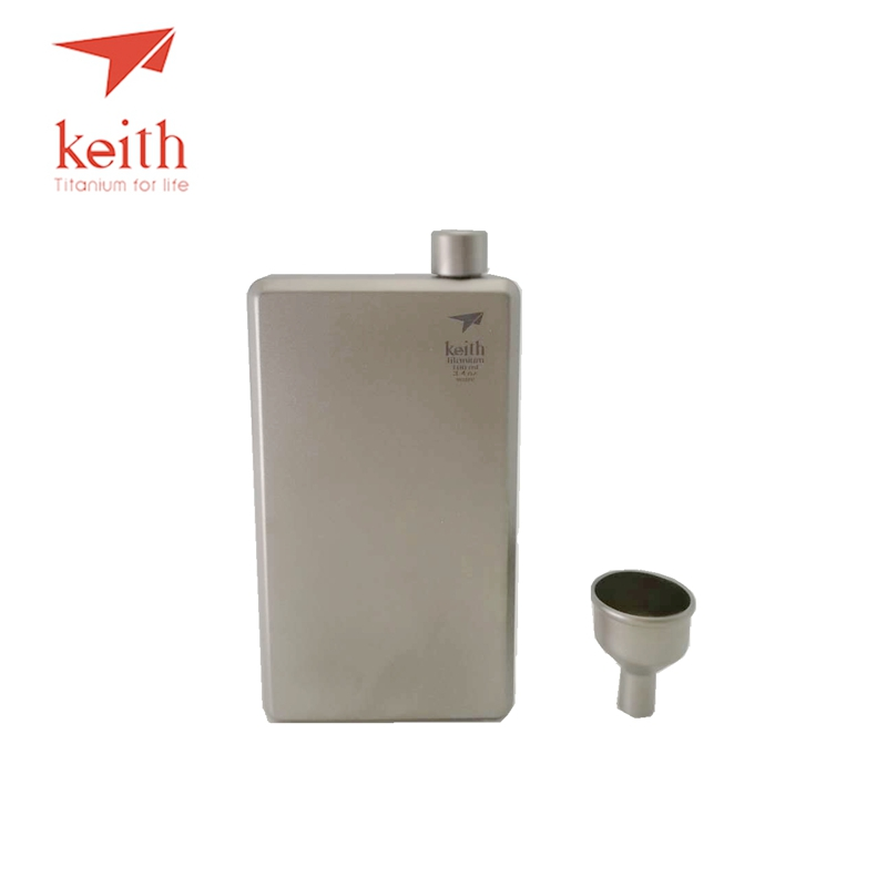 Keith 120ml Pure Portable Wine Whisky Drinkware Titanium Hip Flask Flagon Sports Wine Only 63g