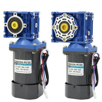 AC220v 90W NMRV30 worm gear motor, forward and reverse, suitable for mechanical equipment, power tools, conveyors, DIY, etc.