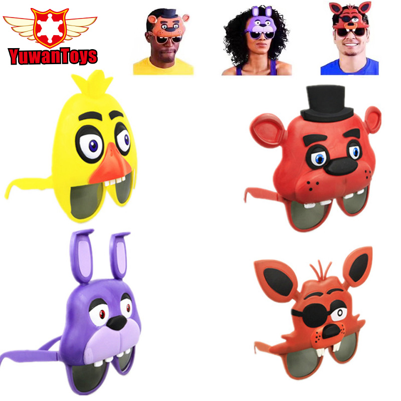 New 4Styles Five Nights At Freddy s Mask Freddy Chica Foxy Bear Glasses Party Latex Mask