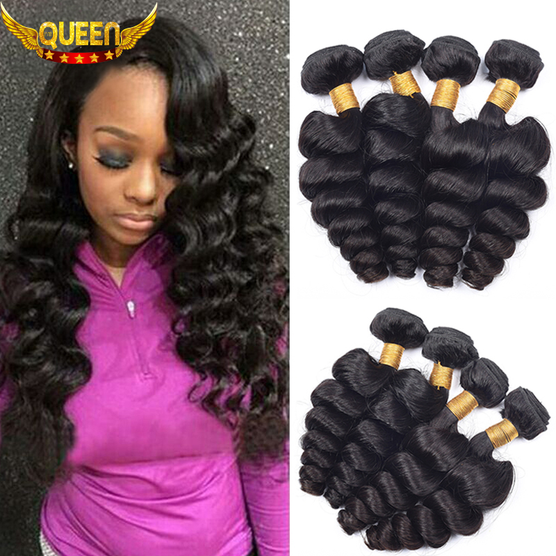 7A Peruvian Virgin Hair Peruvian Loose Wave 4Bundles Rosa Hair Products Peruvian Loose Wave Virgin Hair Soft Peruvian Hair Weave