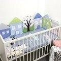 6 ШТ. детская кровать бампер кроватки постельных принадлежностей дышащий мягкая кровать вокруг защиты дом форма бампер набор для девочек мальчиков