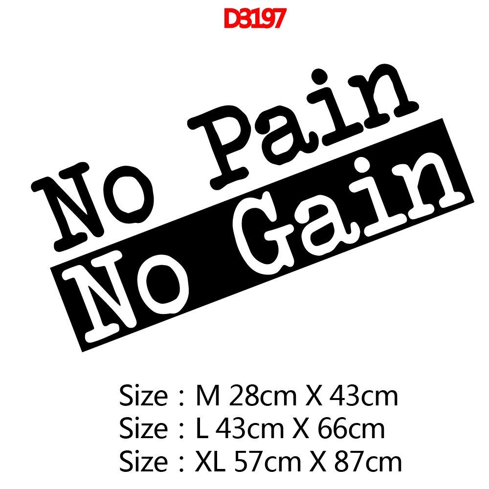 Wall Vinyl No Pain No Gain Self Adhesive Vinyl Wallpaper Kids Room