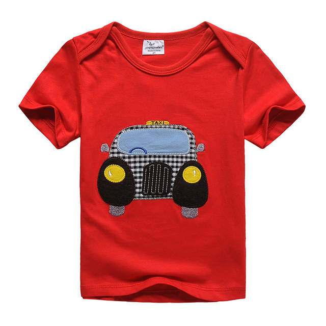 56c5dcc988cf Online Shop 2018 new Children s T shirt boys  t-shirt Baby Clothing Little boy  Summer tshirt tees Designer Cotton Cartoon truck dinasour
