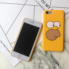 Funny Cartoon Yellow Phone Case iPhone 5 5s SE 6 6s 7 Plus 8 X