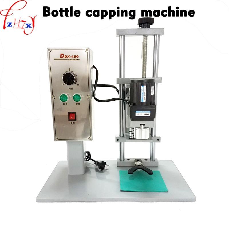 1 pc DDX-450 Desktop elétrico Automático garrafa máquina tampando, tampando diâmetro 10-50mm cap screwing máquina, tampão de bloqueio 220 V