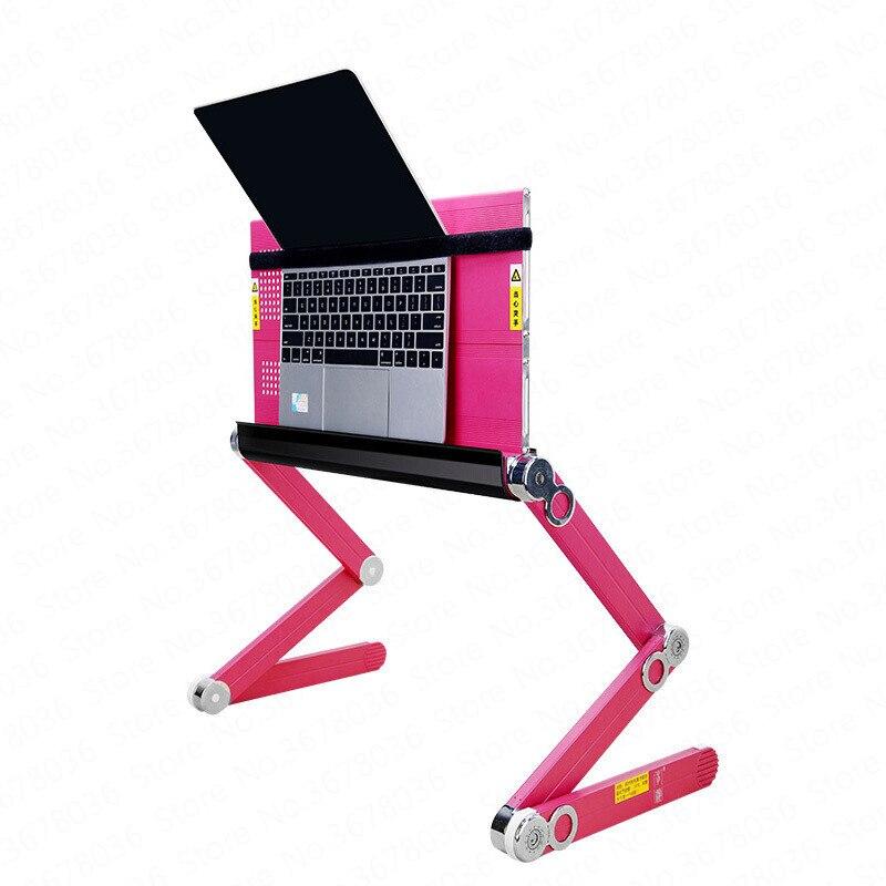 0% nouveau européen facile à tirer tablette plate support d'ordinateur portable lit avec Table paresseux pliant ascenseur bureau multi-fonction ordinateur bureau