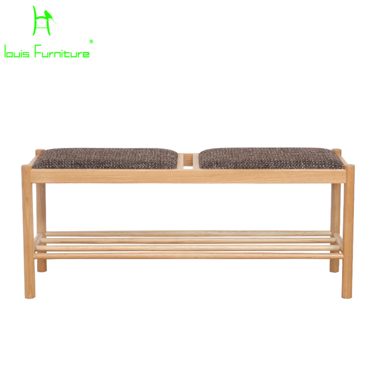 Solid Wood For Shoes Stool Storage Entrance Bench Simple Modern Japanese  Log Long Chair Fabric Sofa In Stools U0026 Ottomans From Furniture On  Aliexpress.com ...