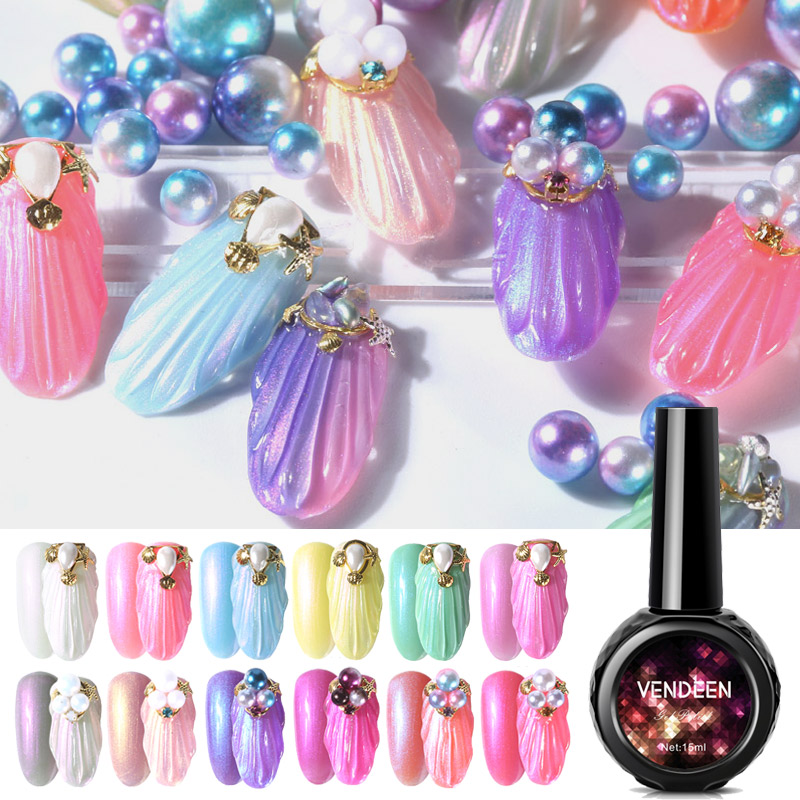 colors fashion glitter nail