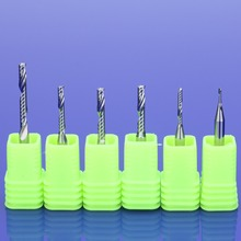 10pcs AAA 3.175mm TOP Single Flute Spiral Cutter CNC End Mill Carbide router bit For Acrylic PVC MDF Milling Cutter