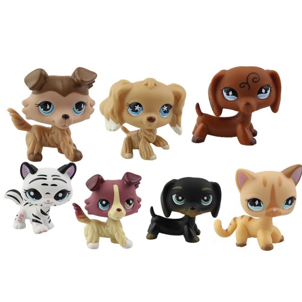Belle Jouets Animal de Bande Dessinée Chat Chien Figurines Collection Enfants jouets Cadeaux pour Enfants de Haute Qualité