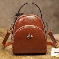 CHISPAULO Women's mochila high quality PU Leather Shoulder Bag 2019 New Small Bag Beautiful Little Bee Backpack Free Shipping