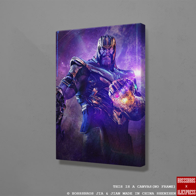 Thanos Gauntlet Marvel Poster Wall Art Canvas For Kids Teens Living Room Home Bedroom Study Dorm Room Apartment Art Decor Prints