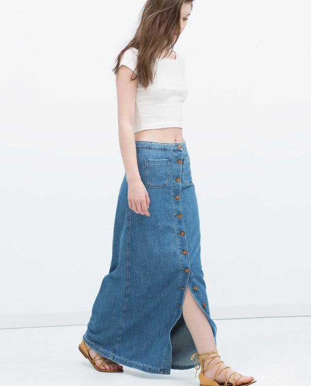 Popular Long Denim Skirts Women-Buy Cheap Long Denim Skirts Women ...