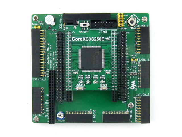 XILINX FPGA Development Board Xilinx Spartan-3E XC3S250E Evaluation Kit+ XC3S250E Core Kit = Open3S250E Standard from Waveshare
