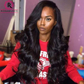 7A Glueless Full Lace Human Hair Wigs 250% Density Brazilian Body Wave Hair Baby Hair Lace Front Human Hair Wigs For Black Women