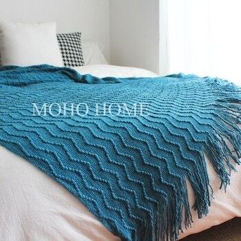 Mantas nórdicas Minky para bebé recién nacido, manta de siesta, manta de cama, manta de punto, sofá decorativo verde malaquita