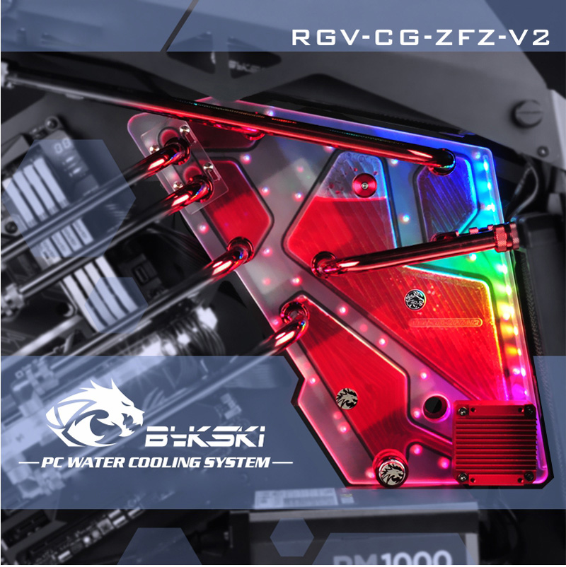 Bykski RGV CG ZFZ V2 Waterway Boards For Cougar Conquer Case Bykski RBW For Intel CPU