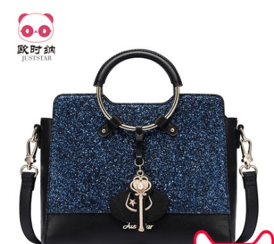 Princess sweet lolita JUSTSTAR bag Winter all-match sequined handbag shoulder bag strap ring Korean adorable fun bag 171644