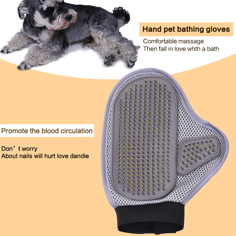Pet Products Dog Shower Brush Pet Double Side Bath Massage Large Dog Hair Clean Gloves Bath Cleaning Supplies Pet Bath Comb in Dog Towels from Home Garden