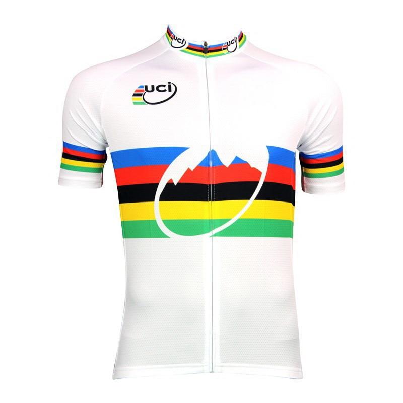 Prix pour 2013 CHAMPION DU MONDE UCI EN-CIEL MANCHES COURTES ROPA CICLISMO VÉLO JERSEY D'ÉTÉ vêtements de CYCLISME TAILLE XS-4XL