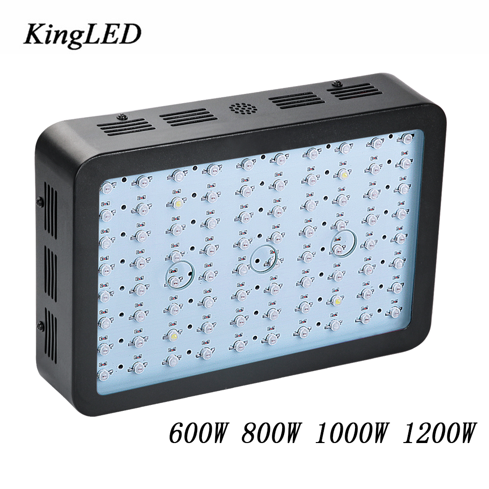 On Sale Black KingLED Double Chips Full Spectrum LED Grow Light 600W/800W/1000W/1500W/ for Aquario Hydroponic Lamp High Yield best led grow light 600w 1000w full spectrum for indoor aquario hydroponic plants veg and bloom led grow light high yield