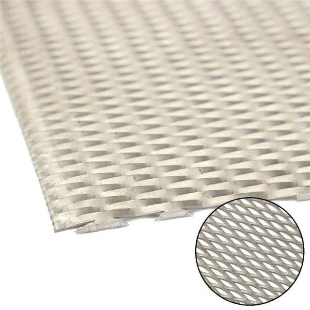 1pc Titanium Metal Mesh Perforated Diamond Holes Plate Metal Expanded 300 x 200 mm Mechanical Parts Tool Tools