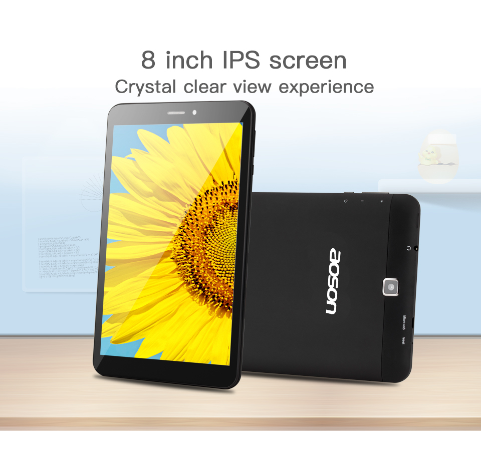 Aoson S8PRO 8 pollice 4g di Chiamata di Telefono Tablet PC 1 gb + 16 gb Android 6.0 SIM Card WiFi bluetooth Phablet 1280*800 IPS mini Compresse