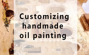 Custom size modified postage for oil painting