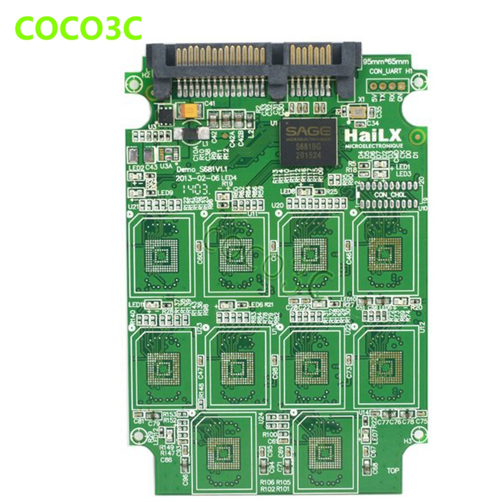 10 TF card to 2.5 inch sata III 6Gbps 3.0 ssd adapter RAID0 Conveter