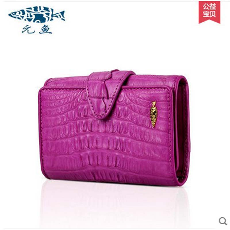 yuanyu free shipping 2017 hot new real Crocodile skin female bag women purse fashion women wallet women clutches women purse yuanyu 2018 new hot free shipping real thai crocodile women handbag female bag lady one shoulder women bag female bag