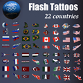 Moda tattoo Flash futebol fãs de basquete Olímpico país tatuagem Tatuagem Temporária para o esporte fãs Bandeira tatuagem