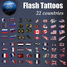 fashion Olympic Flash tattoo football basketball fans country tattoo Temporary Tattoo for sport fans Flag tattoo