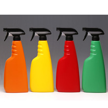 16oz 500ml Black Color Plastic Mist Sprayer Spray Bottle with Trigger for Cleaning  Detergent 10pcs/lot P122