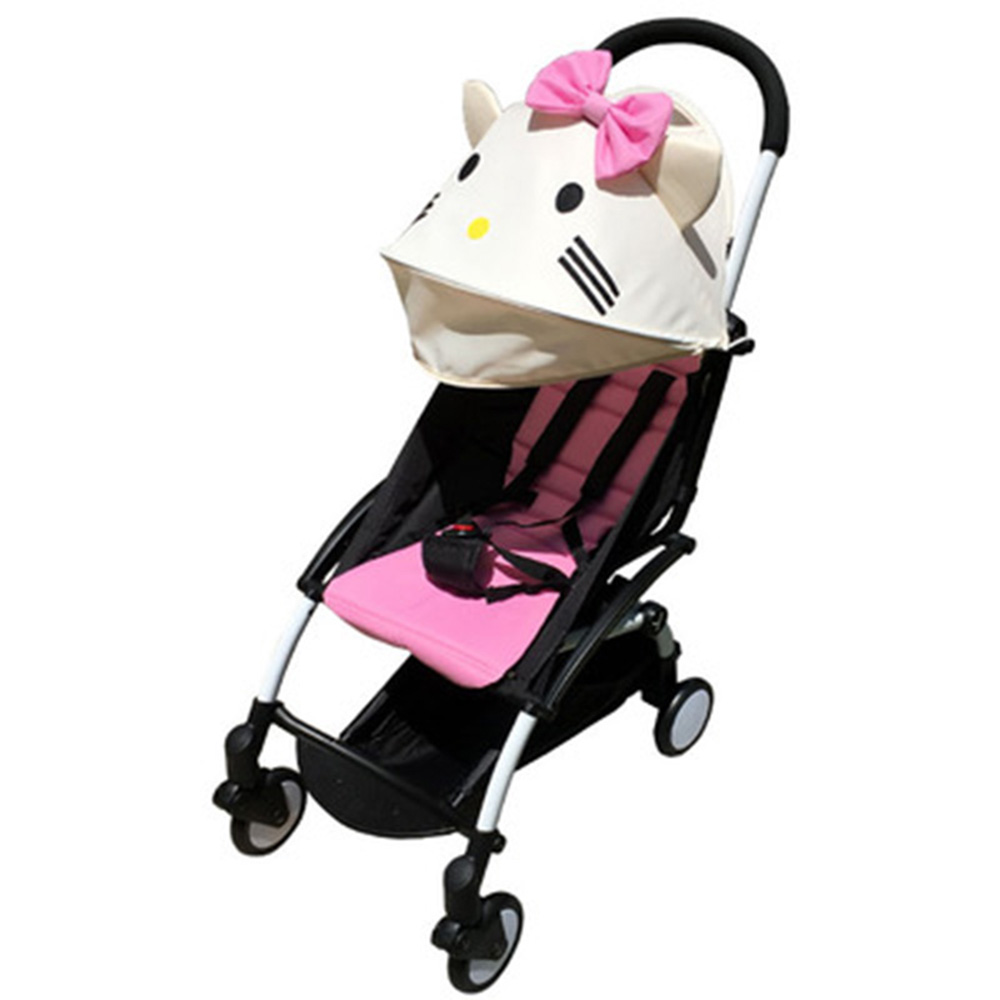 Stroller Accessories for Babyzen Yoyo Yoya Baby Time Sun Shade Cover +Seat Infant Pram Cushion Pad Buggies Sunshade Canopy Hood original baby stroller accessories 175 cushion seat brethable cloth linen material for yoya yoyo babyzen babythrone stroller