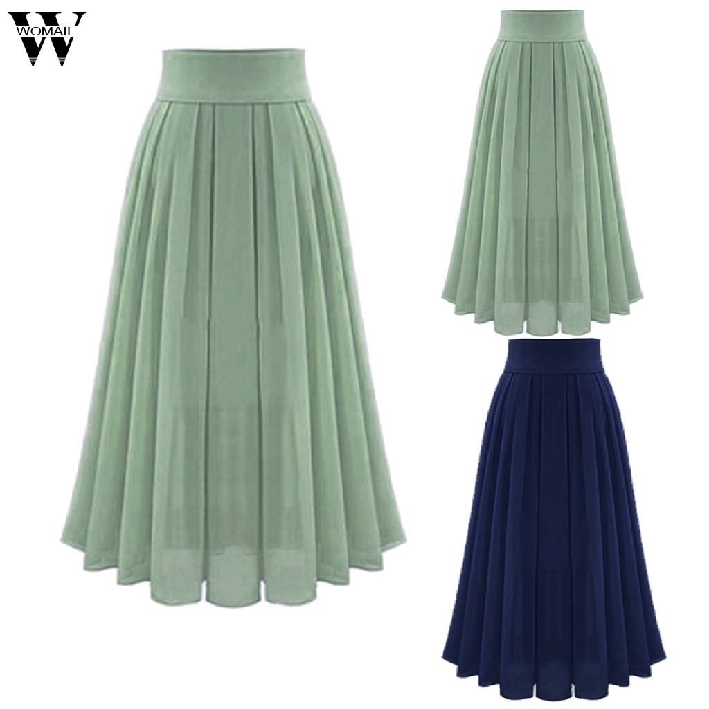 Womail Skirt  Skirts Summer Ladies Women's Sexy Party Chiffion Skirts High Waist Lace-up Hip Long A-Line Skirt 2019 May29 8