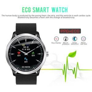 Image 2 - CYUC N58 ECG PPG montre intelligente hommes électrocardiogramme ecg affichage, holter ecg traqueur de fréquence cardiaque moniteur de pression artérielle smartwatch
