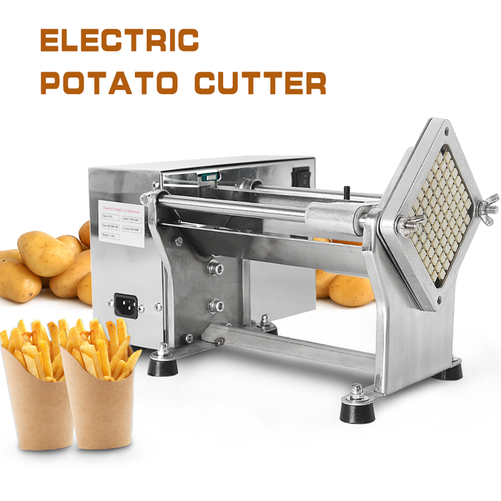 GZZT Electric Vegetable Slicer Chopper Tomato Potato Cutting Machine Potato Cutter French Fries Kitchen Accessories|Food Covers| |  - title=