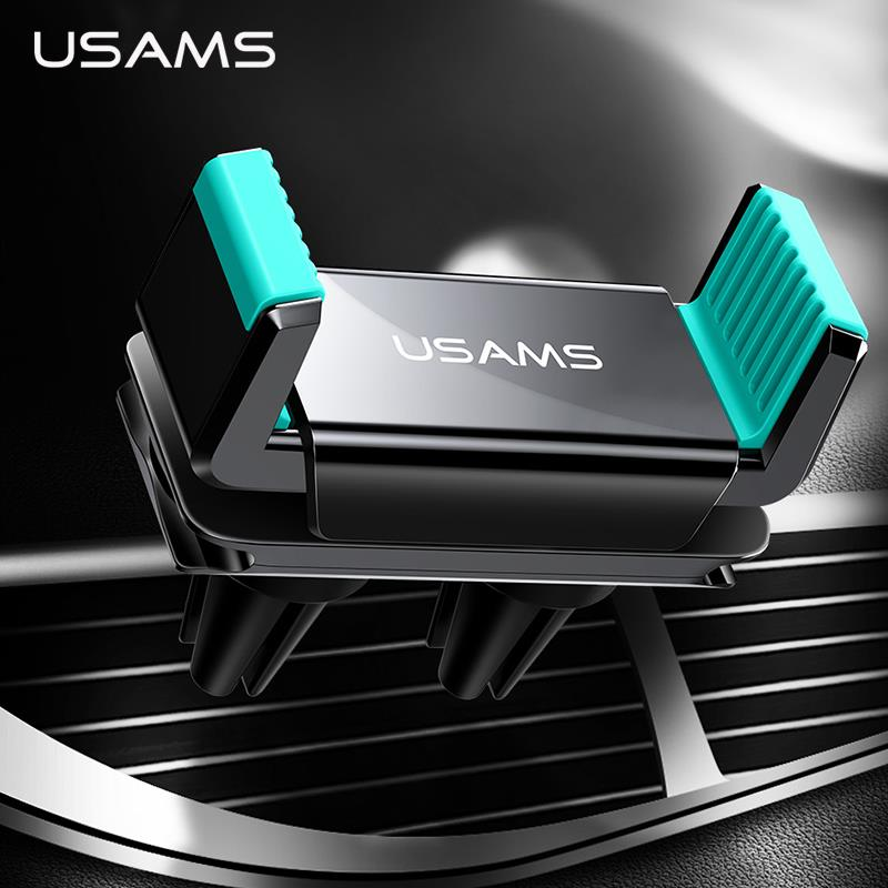Adjustable Dual Air Vent Car Holder USAMS New Universal Air Vent Mount for Smartphone 360 Rotation Mobile Phone Stand