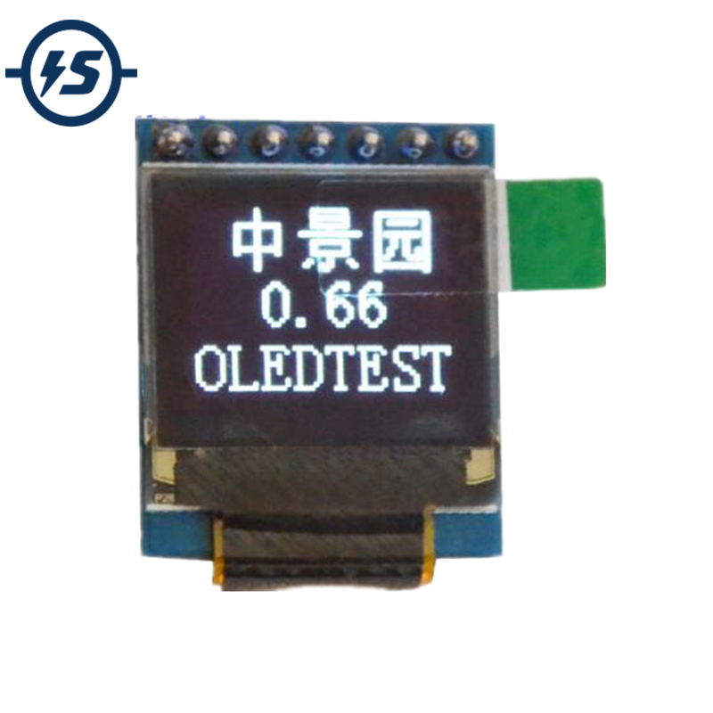 IS White 0.66 Inch OLED Display Module 64x48 0.66