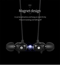 Magnet design+Back hanging design HF sound quality Play for 8h Wireless Headphones sport earphone koptelefoon ecouteurs