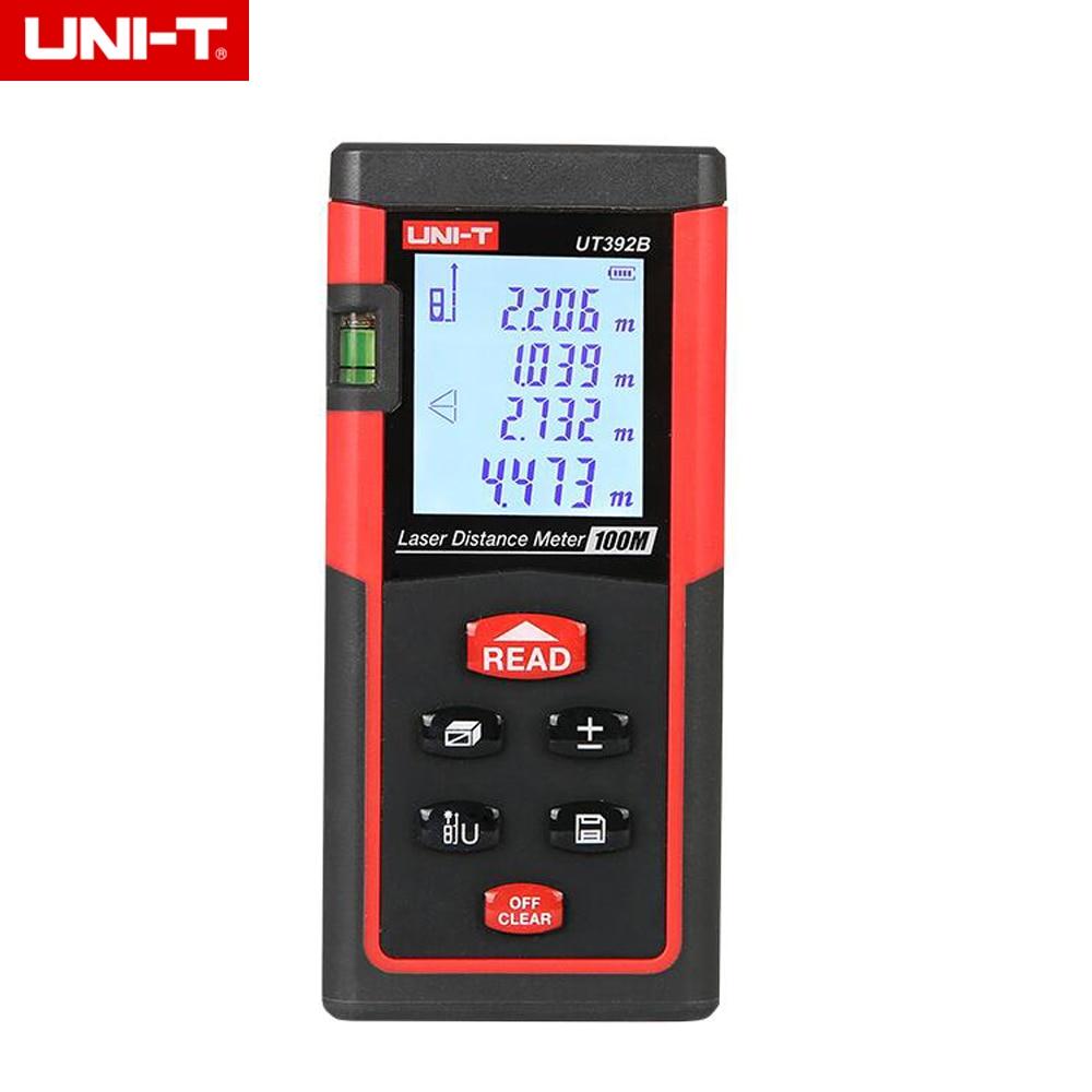 UNI-T UT392B 100M Handheld Digital Laser Distance Meter Range Finder Measure Area/Volume