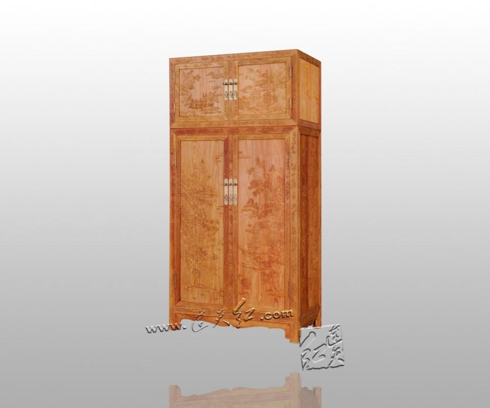 solid-wood-furniture-bedding-wardrobe-rosewood-garderobe-carving-antique-almirah-2-flat-silding-doors-closet-annatto-commode-new