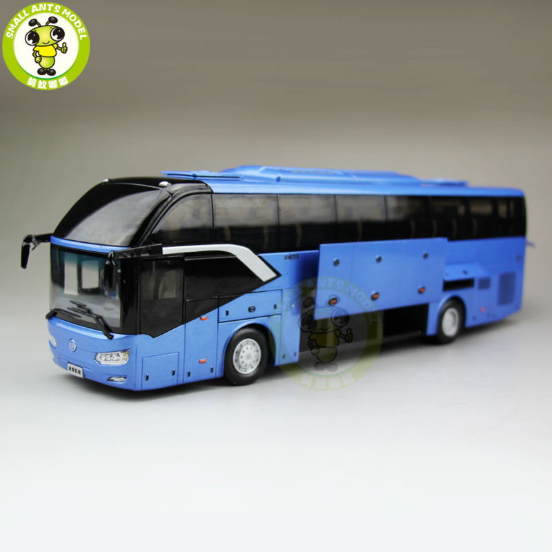 1/38 China Gold Dragon Bus Models XML6122 Diecast Bus model Blue мото шлем other