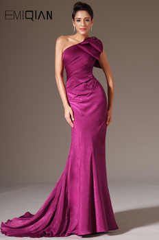 New Stylish One Shoulder Evening Gown Evening Dresses Burgundy - DISCOUNT ITEM  35% OFF Weddings & Events