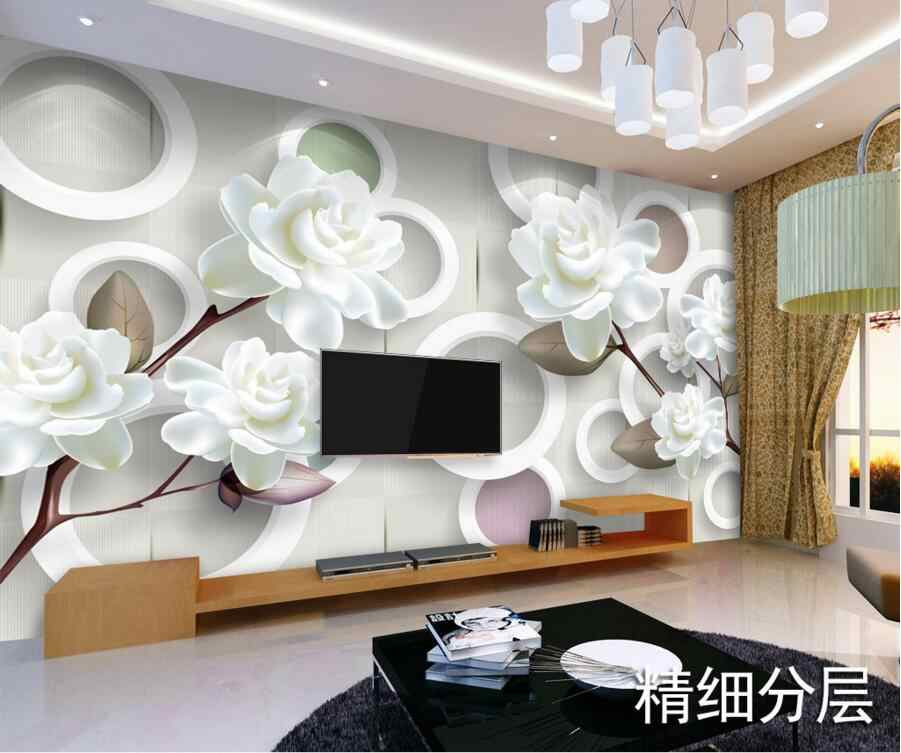 Detail Feedback Questions About Custom 3d Murals Simple Modern White