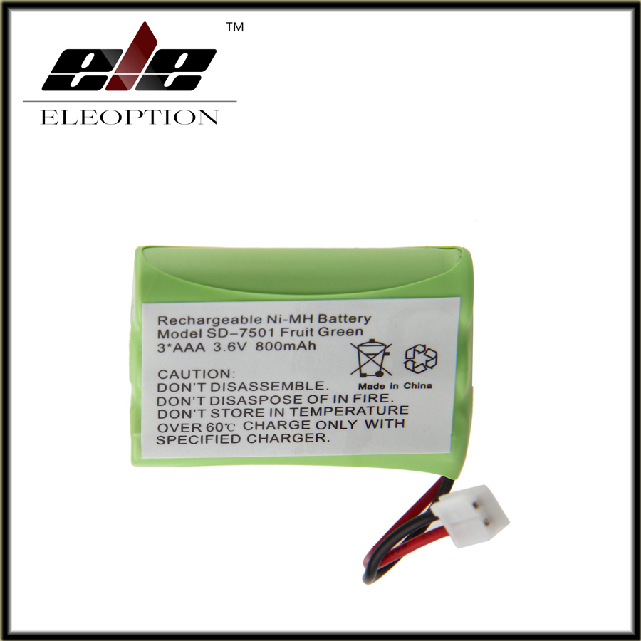 Eleoption 3.6V 800mAh Ni-MH Home Phone Battery for Motorola SD-7501 V-Tech 89-1323-00-00 AT & T Lucent 27910