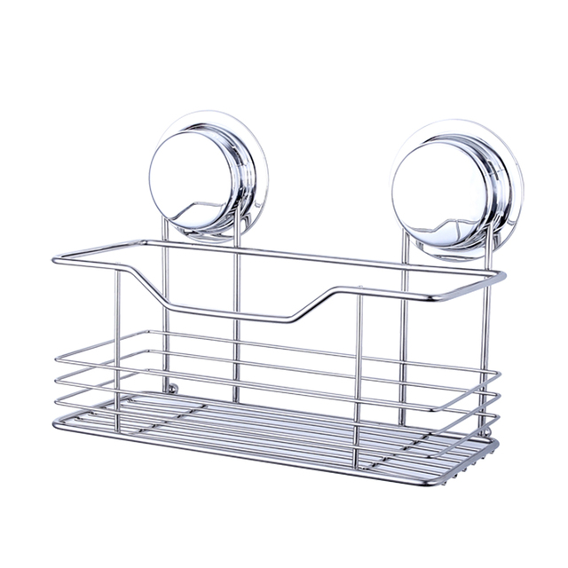 Ecoart Shower Shelf Suction Cups Shower Basket for Wall Mounted ...
