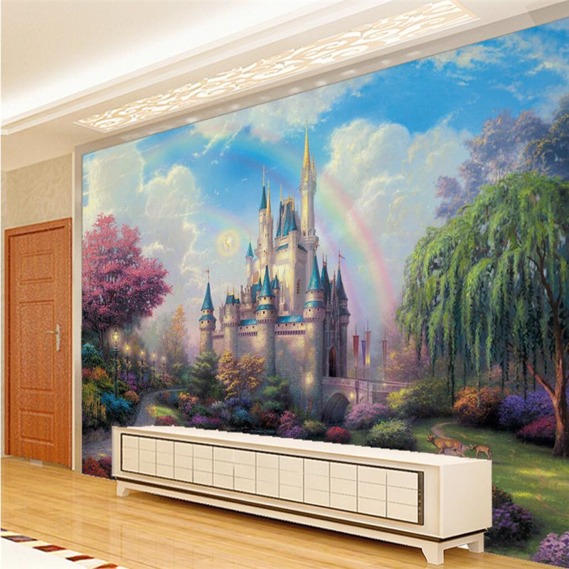 Beibehang Mural Bedroom Living Room TV Wall Background Fantasy Castle  Entrance Childrenu0027s Room Kids Wall Decor Photo Wallpaper In Wallpapers From  Home ...