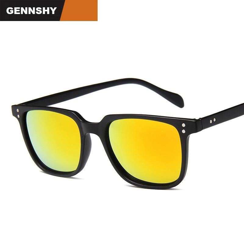 2018 Classic Retro Sunglasses Men Vintage Square Plastic Sunglasses With Nails Mirror Lenses Tortoise Frame G15 Lenses Driving