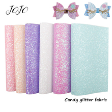 JOJO BOWS 22*30cm Sparkly Glitter Fabric Solid Candy Sheet For Clothing DIY Hair Bows Materials Apparel Sewing Home Party